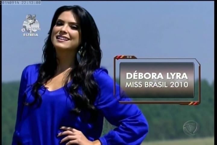 """Débora Lyra, Miss Brasil 2010, em """"A FAzenda7"""""""
