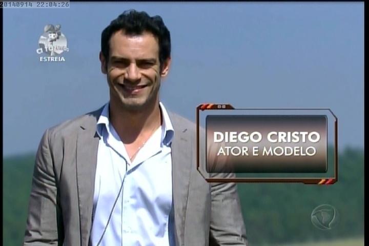 """14.set.2014 - Diego Cristo chega em """"A Fazenda 7"""""""