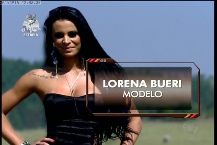 """14.set.2014 - Lorena Bueri entra em """"A Fazenda 7"""""""