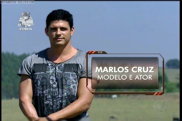 """14.set.2014 - Marlos Cruz em """"A Fazenda 7"""""""
