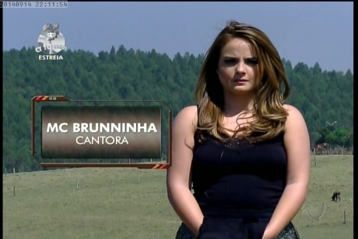 """14.set.2014 - MC Bruninha em """"A Fazenda 7"""""""