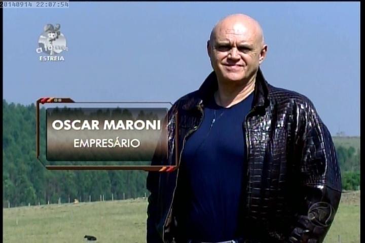 """14.set.2014 - Oscar Maroni entra em """"A Fazenda7"""""""