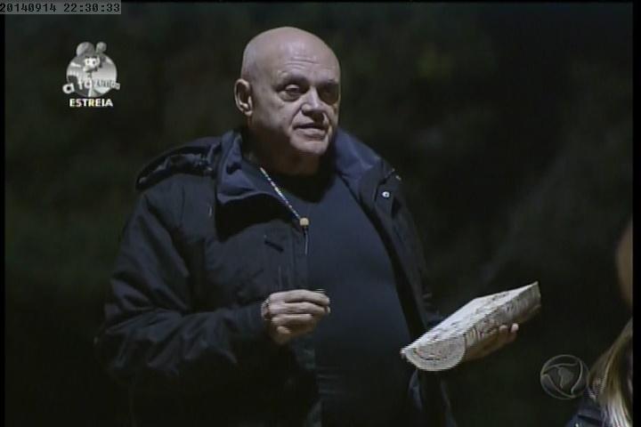 """14.set.2014 - Oscar Maroni faz desabafo em """"A Fazenda 7"""""""