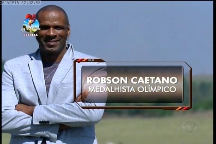 """14.set.2014 - Robson Caetano na estreia de """"A Fazenda"""""""