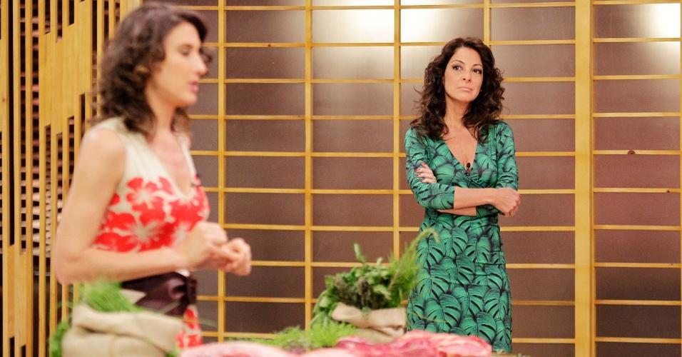 """12.set.2014 - Ana Paula Padrão nos bastidores do """"Masterfchef"""""""