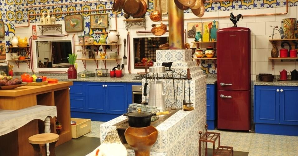 """14.set.2014 - A cozinha de """"A Fazenda 7"""" ganha nova decoração"""