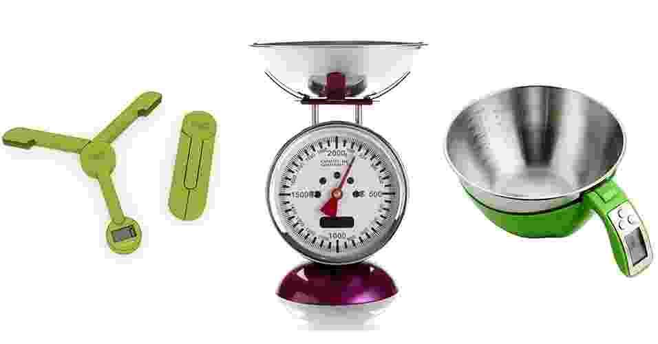 As balanças de cozinha são equipamentos muito úteis: elas ajudam a alcançar a precisão ao proporcionalizar os ingredientes em receitas e acertar as quantidades pedidas em dietas. - Divulgação/ Montagem UOL