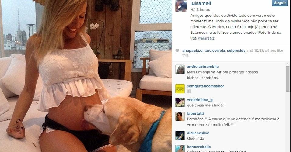 Luisa Mell anuncia no Instagram que espera primeiro filho