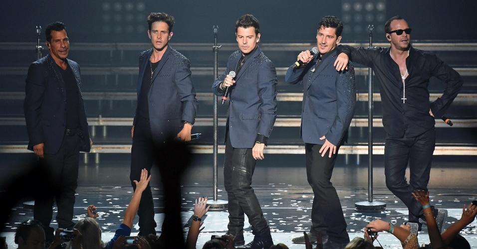 Show do grupo New Kids On The Block em Las Vegas (10.jul.2014)