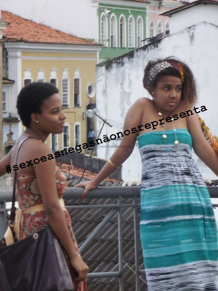 """16.set.2014- O protesto contra """"Sexo e as Negas"""" mobilizou mulheres em todo país que reclamam do contéudo racista da série de Miguel Falabella"""