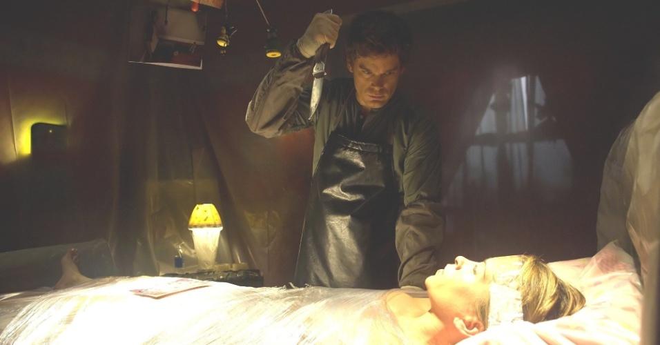 """Dexter Morgan (Michael C. Hall) na série """"Dexter"""""""