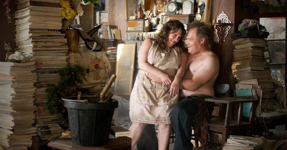 "Errol Childress (Glenn Fleshler) na série ""True Detective"""