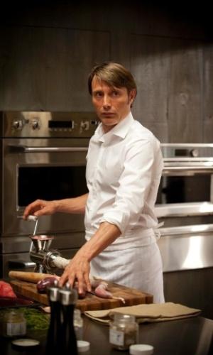 """Hannibal Lecter (Mads Mikkelsen) na série """"Hannibal"""""""