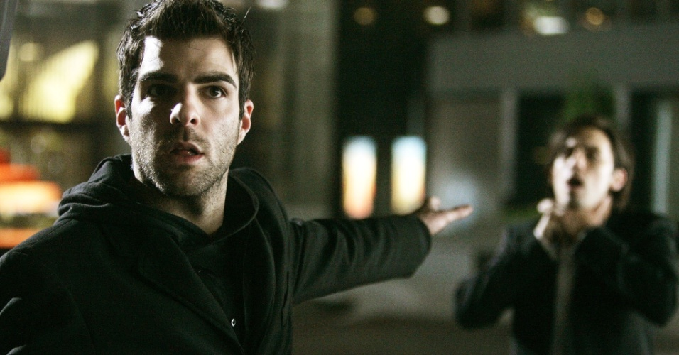 "Sylar (Zachary Quinto) na série ""Heroes"""