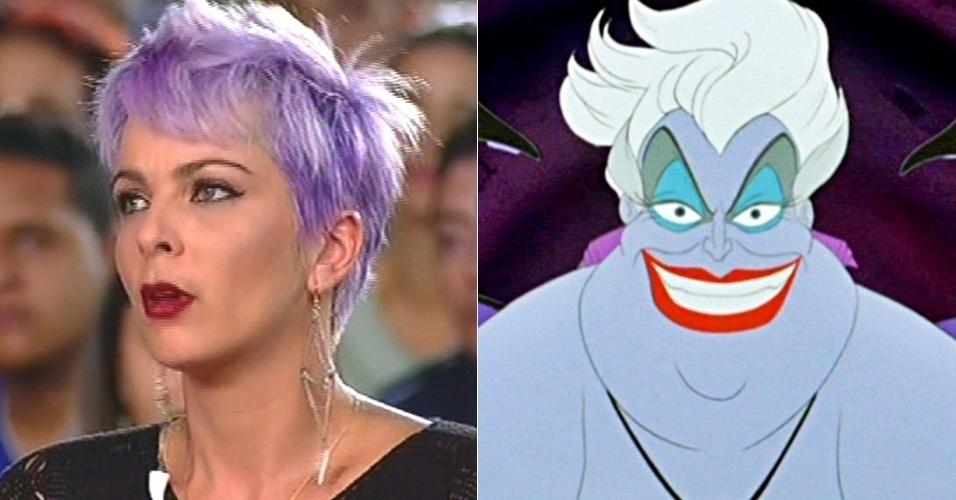 """A cantora Bruna Tang de """"A Fazenda 7"""" tem como sósia a personagem Ursula do desenho """"A Pequena Sereia"""""""