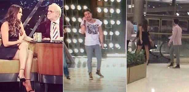 """Bruna no """"Programa do Jô"""", Luan no SBT e os dois em shopping em São Paulo, na mesma noite"""