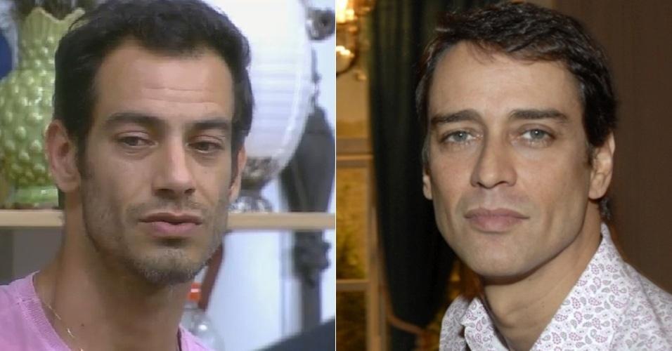 """Diego Cristo de """"A Fazenda 7"""" e o ator Marcelo Anthony"""