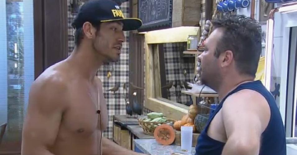 18-09-2014 Diego Cristo desabafa com Felipeh Campos sobre ex-mulher