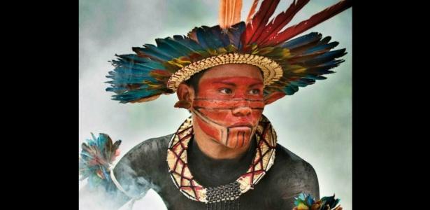 A foto do índio da tribo Asurini venceu o concurso da ONG - Giordano Cipriani