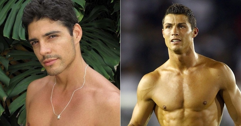 """Marlos Cruz de """"A Fazenda 7"""" e Cristiano Ronaldo"""