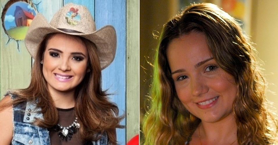 """Mc Bruninha de """"A Fazenda 7"""" e a atriz Tatyane Goulart"""