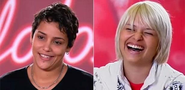 """Nise Palhares (à esq.) e Hellen Lyu durante audição do """"Ídolos"""""""