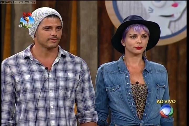 18.set.2014 - Marlos Cruz e Bruna Tang são os últimos escolhidos para a disputa do cargo de fazendeiro