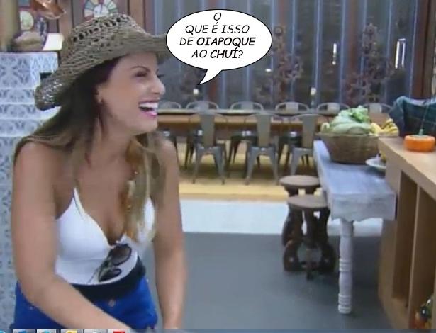 """19.ago.2014 - Babi Rossi pergunta qual o significado da expressão """"do Oiapoque ao Chuí"""""""