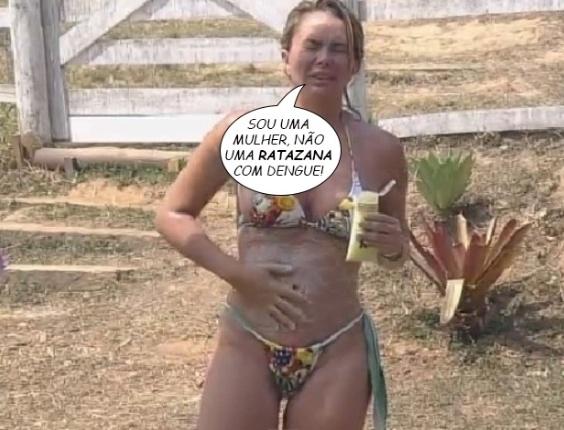 """19.set,2014 - """"Sou uma mulher, não uma ratazana com dengue"""", diz Cristina Mortágua em """"A Fazenda 7"""""""