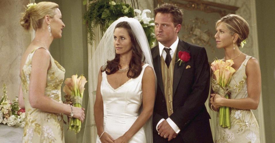 """20 anos de """"Friends"""": cena do episódio """"The One With Monica and Chandler's Wedding"""""""