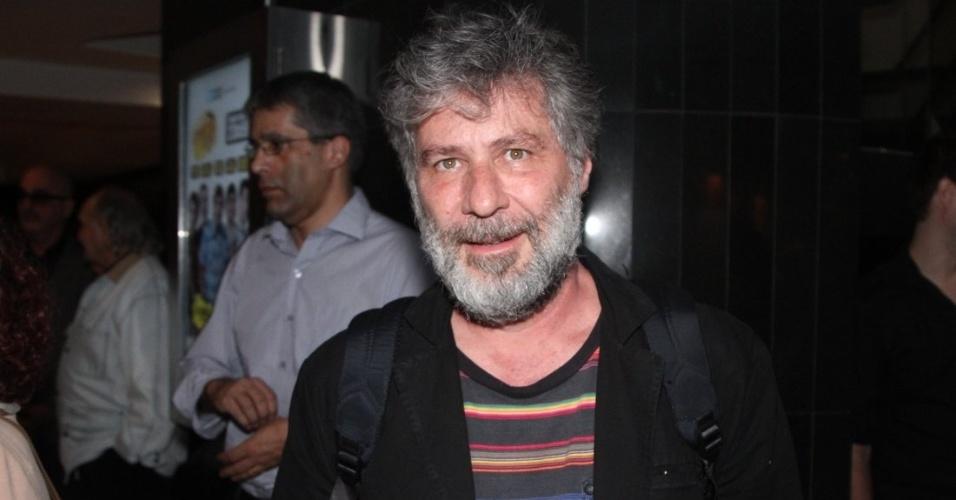 19.set.2014 - O ator Leopoldo Pacheco marca presença no show de Bibi Ferreira, em São Paulo. A atriz e cantora interpretou música de Frank Sinatra