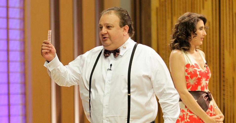 """12.set.2014 - O chef francês Erick Jacquin nos bastidores do """"Masterchef"""""""