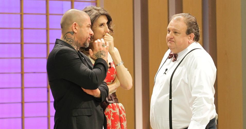 12.set.2014 - Os chefs de cozinha Henrique Fogaça, a argentina Paola Carosella e o francês Erick Jacquin