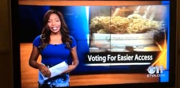 Repórter norte-americana se demite ao vivo para apoiar luta pela legalização da maconha - Reprodução/Youtube