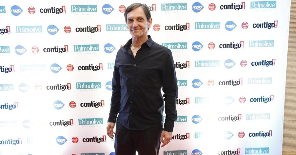 22.set.2014 - Paulo Miklos, do Titãs, no tapete vermelho do Prêmio Contigo, no Rio de Janeiro