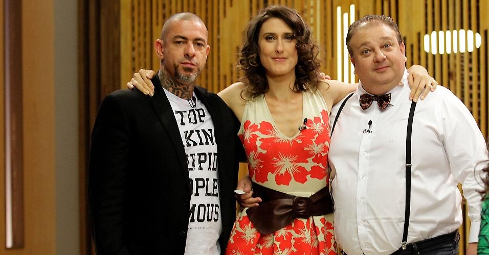 2.set.2014 - Os chefs de cozinha Henrique Fogaça, a argentina Paola Carosella e o francês Erick Jacquin