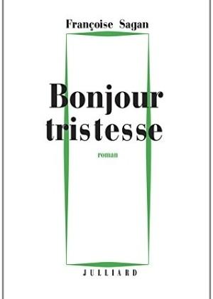 """Capa de """"Bonjour Tristesse"""", de Françoise Sagan, inspirada na edição original - Divulgação"""