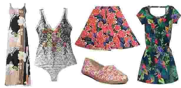 As roupas e acessórios podem ser estampados com diferentes tipos de florais - Divulgação