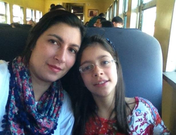Daniela Sensato e Ana Luísa, diagnosticada com problema no coração na barriga da mãe - Arquivo Pessoal
