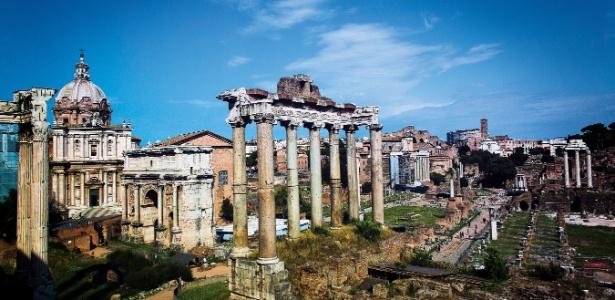 O Fórum Romano era o grande centro religioso, político e comercial do Império - Claus Lehmann/Tam Nas Nuvens
