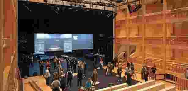 O teatro Teatro Shakespeare de Gdansk, na Polônia - Piotr Wittman/AFP