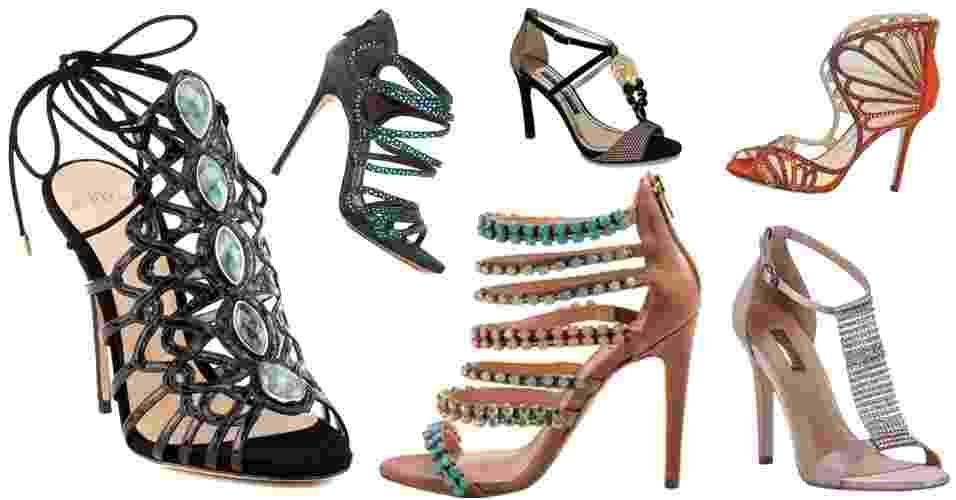Sandálias com pedrarias - abre - Divulgação