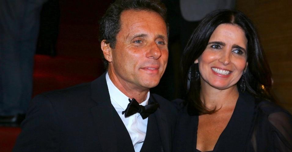 24.set.2014 - Tony Bellotto e Malu Mader na abertura da 16ª edição do Festival de Cinema do Rio, no Teatro Oi Casa Grande, no Leblon