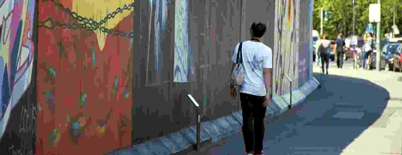 A East Side Gallery tem mais de 1 km do antigo Muro de Berlim - Eduardo Vessoni/UOL