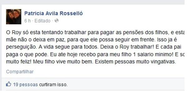 Declaração mulher do Roy