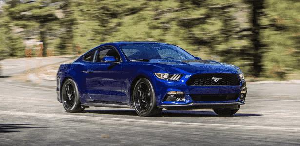 Ford Mustang 2015 azul - Divulgação - Divulgação