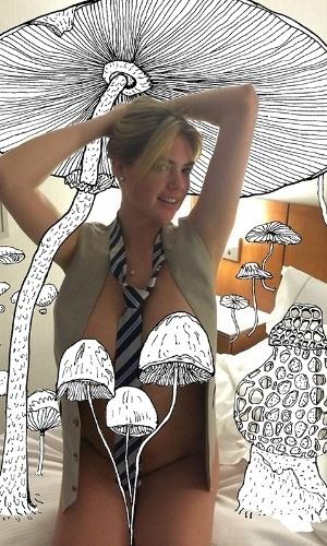 Kate Upton aparece com o corpo coberto por cogumelos em arte feita por ilustradores holandeses em referência ao vazamentos de fotos nuas de famosas