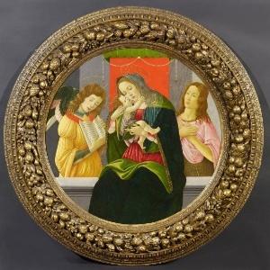 """A pintura """"Virgem com Criança, São João Batista e um Anjo"""", de Sandro Botticelli, que foi roubada por nazistas - Divulgação"""