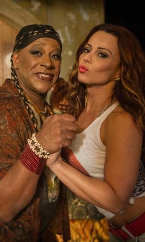 Xana Summer (Aílton Graça) e Naná (Viviane Araújo)