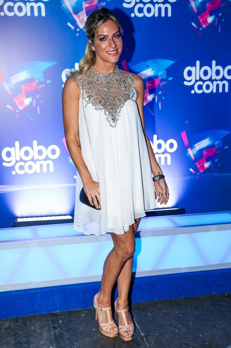 24.set.2014 - A atriz Giovanna Ewbank vai à festa das Organizações Globo, em um estúdio da filial paulista da emissora, no Brooklin Novo, na zona sul de São Paulo, nesta quarta-feira